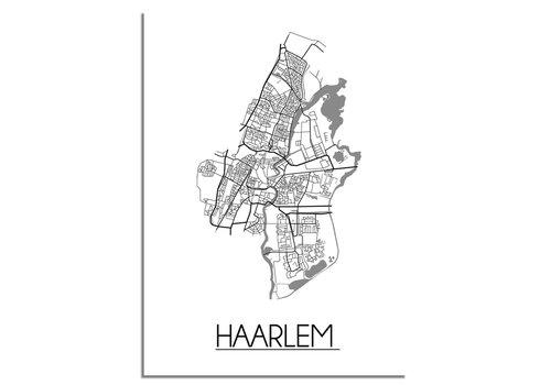 DesignClaud Haarlem Stadtplan-poster