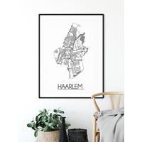 Haarlem Stadtplan-poster