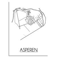 Asperen Plattegrond poster