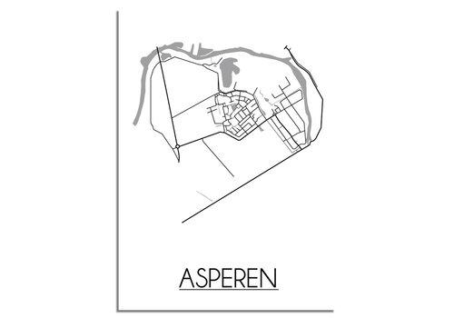 DesignClaud Asperen Plattegrond poster