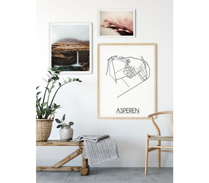 Asperen Stadtplan-poster