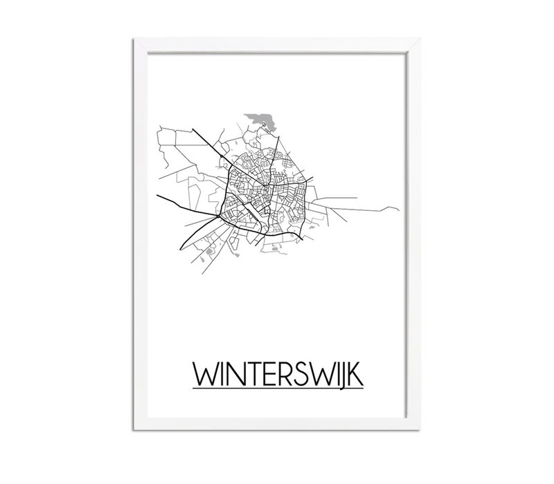 Winterswijk Stadtplan-poster