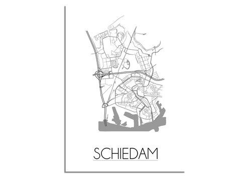 DesignClaud Schiedam Plattegrond poster