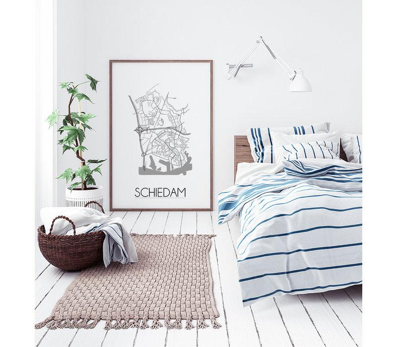 Schiedam Plattegrond poster