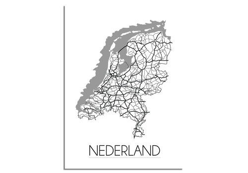 DesignClaud Nederland Plattegrond poster