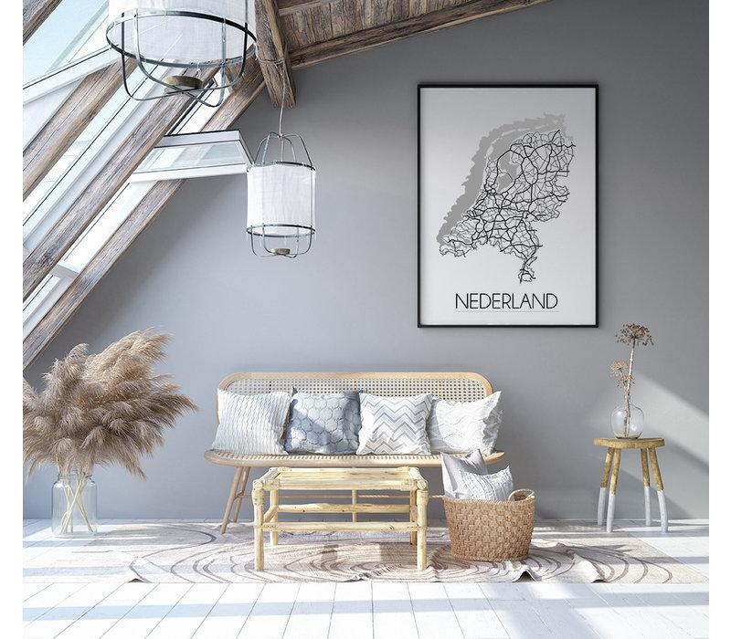 Nederland Plattegrond poster