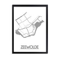 Zeewolde Stadtplan-poster