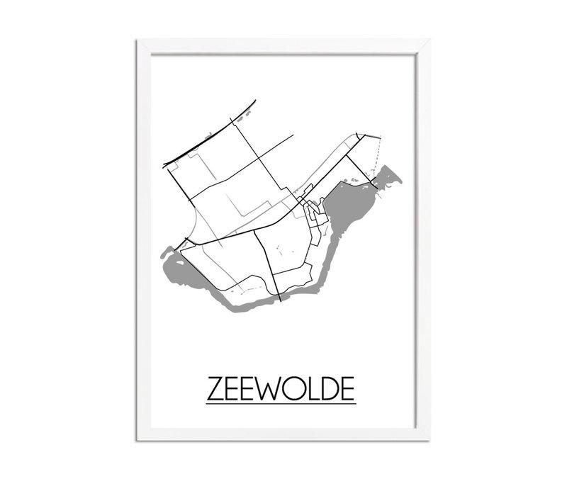 Zeewolde Plattegrond poster