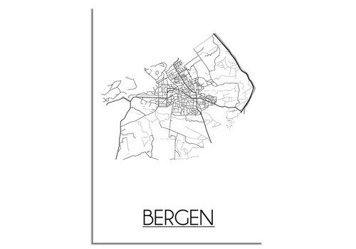 DesignClaud Bergen Plattegrond poster