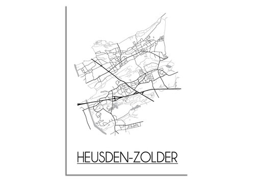 DesignClaud Heusden-Zolder Stadtplan-poster