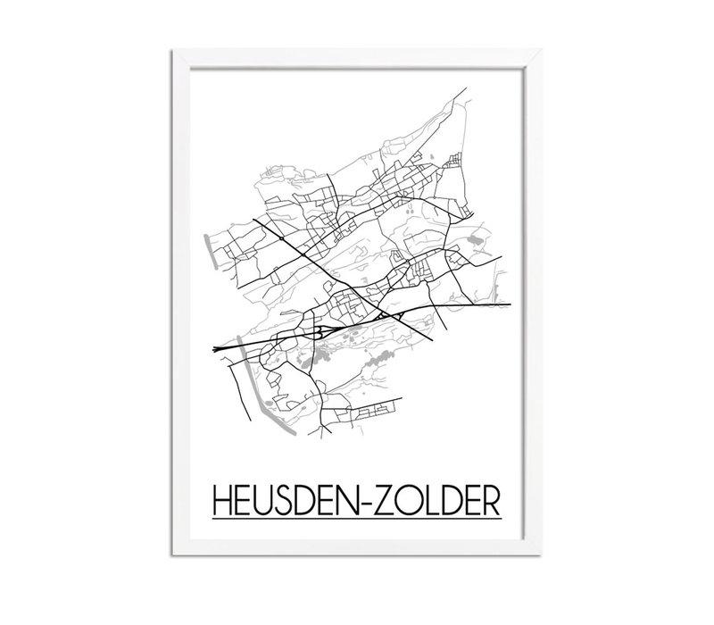 Heusden-Zolder Plattegrond poster