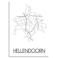 Hellendoorn Plattegrond poster