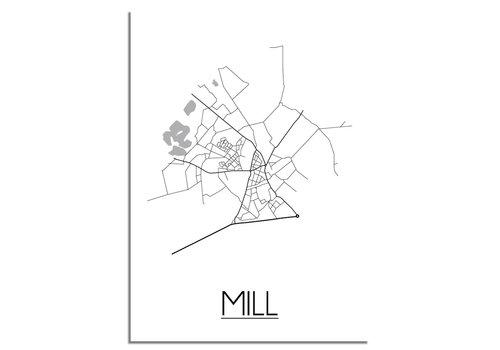 DesignClaud Mill Plattegrond poster