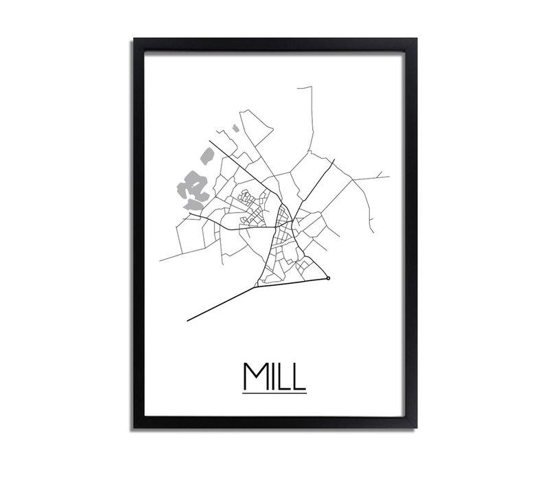 Mill Plattegrond poster