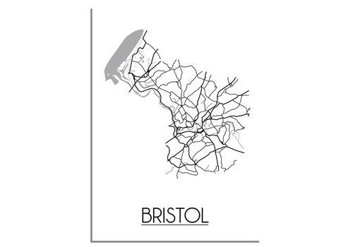 DesignClaud Bristol Plattegrond poster