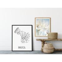 Bristol Stadtplan-poster