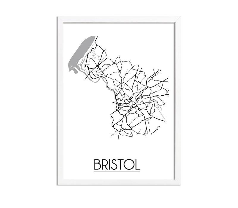 Bristol Plattegrond poster