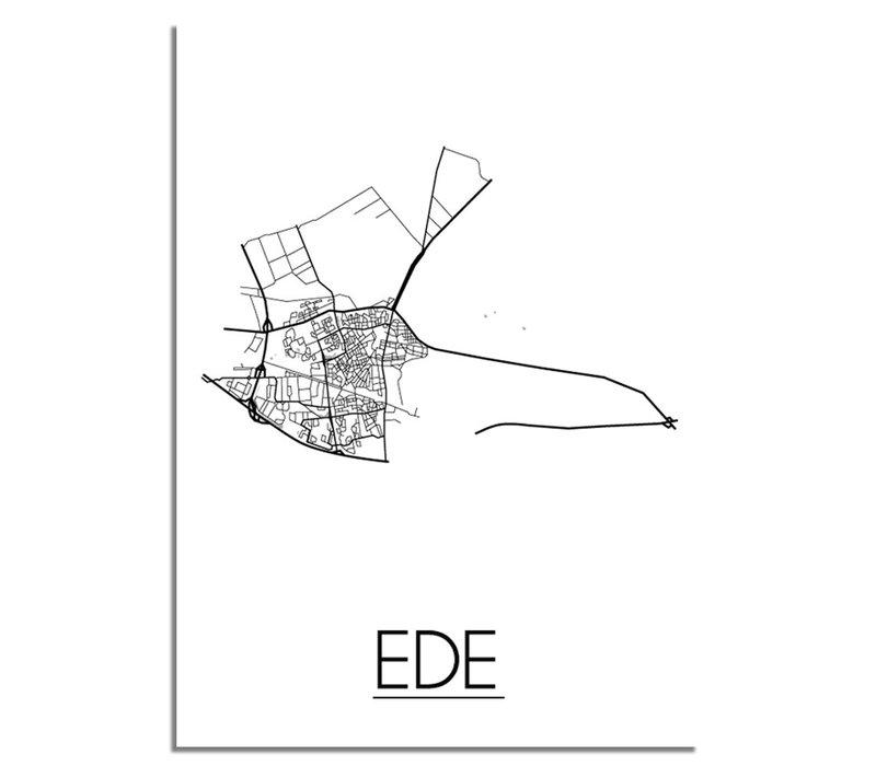 Ede Stadtplan-poster