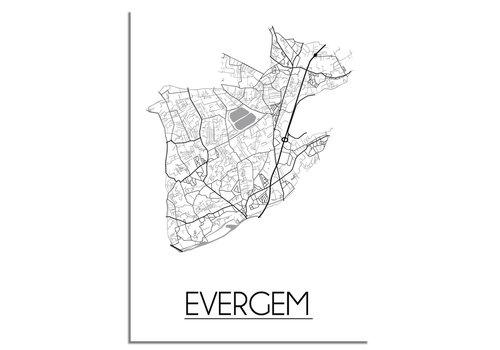 DesignClaud Evergem Stadtplan-poster