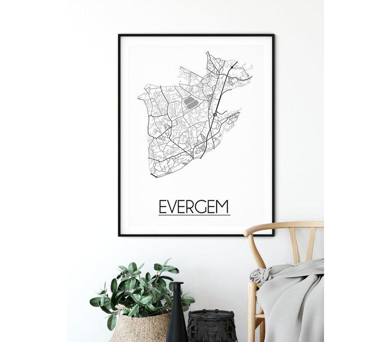 Evergem Plattegrond poster