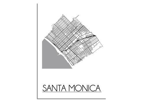 DesignClaud Santa Monica Stadtplan-poster