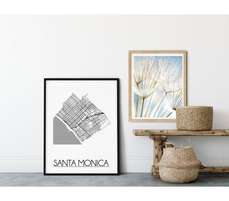 Santa Monica Stadtplan-poster