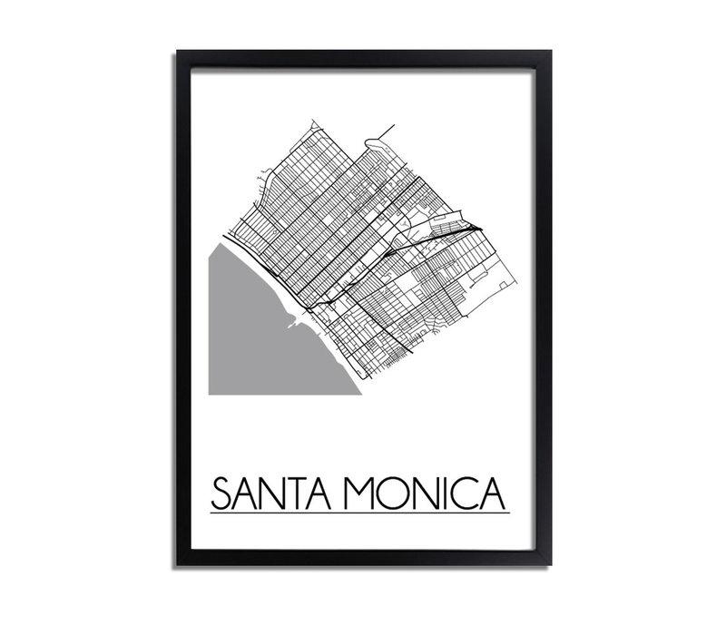 Santa Monica Plattegrond poster