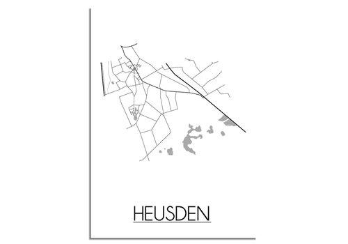 DesignClaud Heusden Plattegrond poster