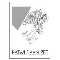 Katwijk aan Zee Plattegrond poster