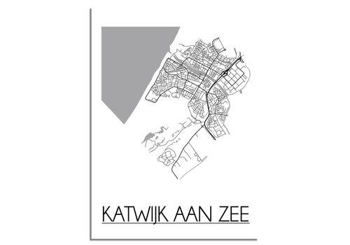 DesignClaud Katwijk aan Zee Plattegrond poster