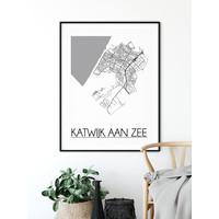 Katwijk aan Zee Stadtplan-poster