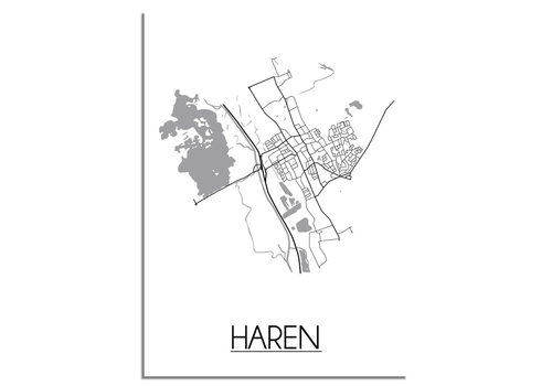 DesignClaud Haren Plattegrond poster