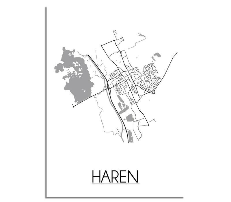 Haren Plattegrond poster