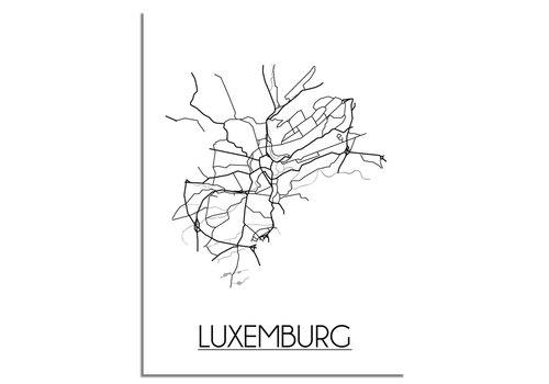 DesignClaud Luxemburg Plattegrond poster