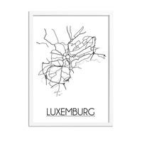 Luxemburg Plattegrond poster