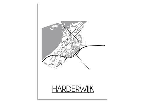 DesignClaud Harderwijk Plattegrond poster
