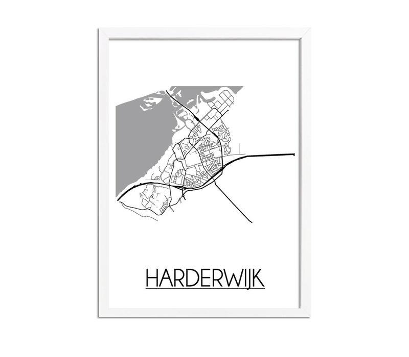 Harderwijk Plattegrond poster