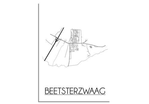 DesignClaud Beetsterzwaag Plattegrond poster