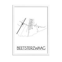 Beetsterzwaag Stadtplan-poster