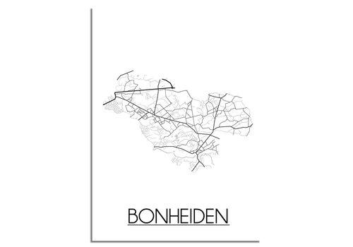 DesignClaud Bonheiden Stadtplan-poster