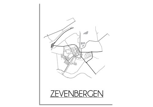 DesignClaud Zevenbergen Plattegrond poster