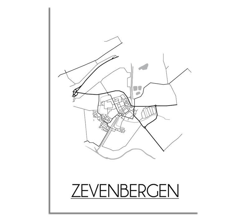 Zevenbergen Stadtplan-poster