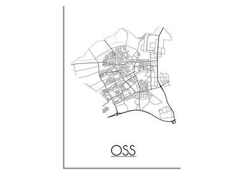 DesignClaud Oss Plattegrond poster