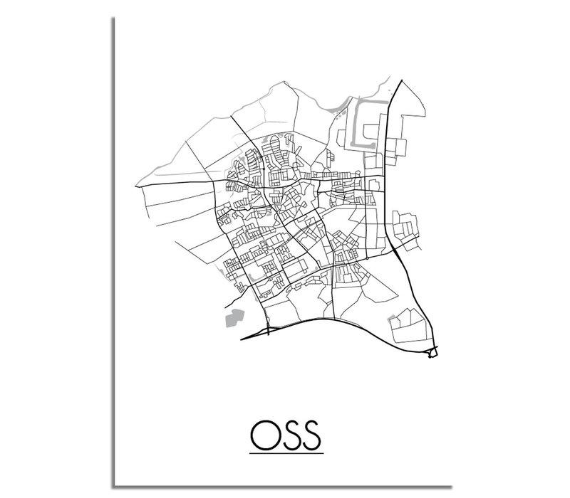 Oss Stadtplan-poster