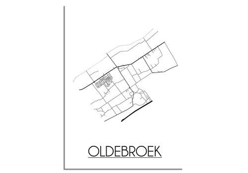 DesignClaud Oldebroek Plattegrond poster
