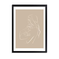 Poster vrouw met baby naturel - minimalisme