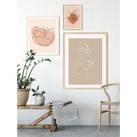Poster Schwangere Frau natürliche - Minimalismus