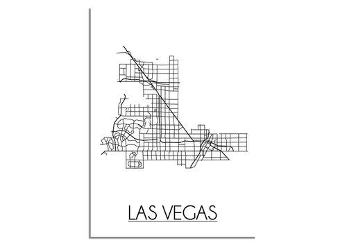 DesignClaud Las Vegas Stadtplan-poster