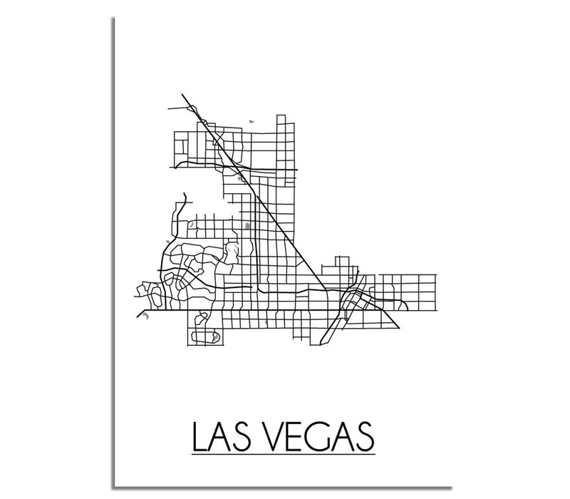 Las Vegas Plattegrond poster
