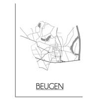 Beugen Stadtplan-poster